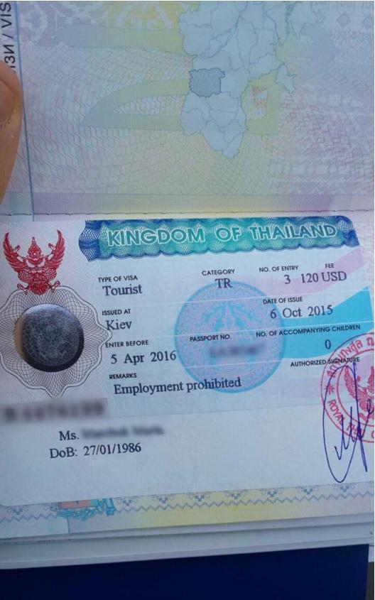 документы для визы в тайланд