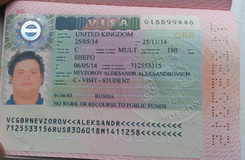 виза великобритания срок